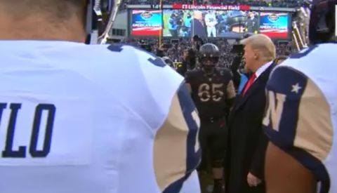 Video: Trump Handles Coin Toss at Army-Navy Game, Crowd Erupts Into Cheers