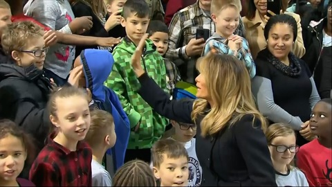 First Lady Melania Trump Takes Picture With Marine Who Couldn't Attend Event