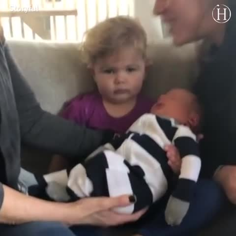 Little Girl Gets Handed Newborn Sibling and Her Displeasure Is Hilarious, Along With Other Babies