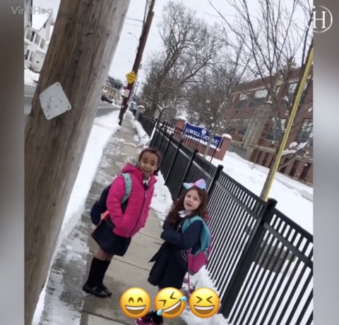 Dad Drives His Daughters to School on a Snow Day After They Put Ketchup in His Shampoo Bottle