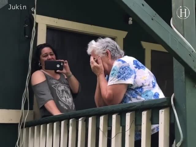 Woman Gifts Grandparents with Brand New House